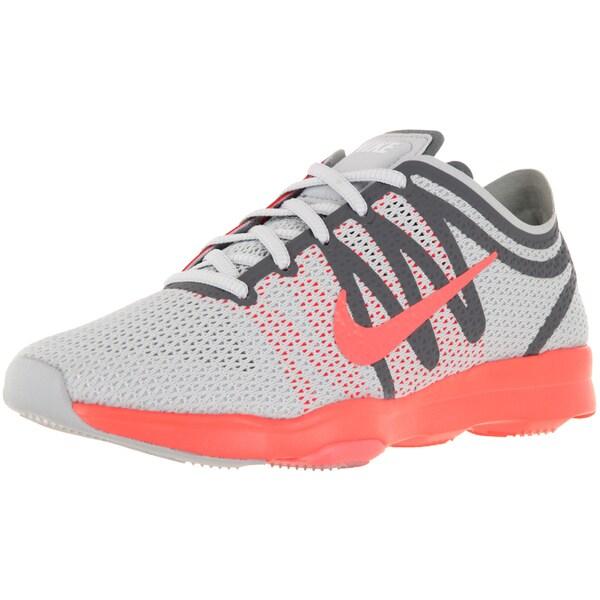 Nike Women's Air Zoom Fit 2 Pure Platinum/Brightt Mango/Grey/White Training Shoe
