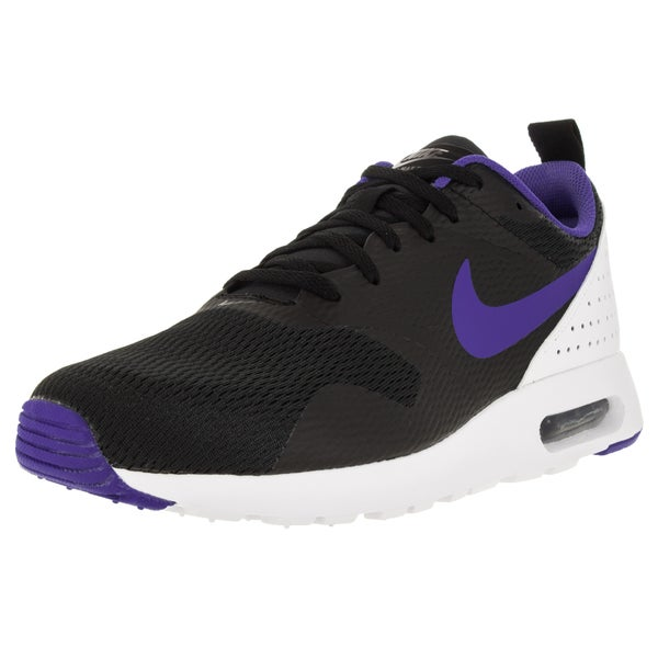 Nike Men's Air Max Tavas Black/Persian Violet/White Running Shoe