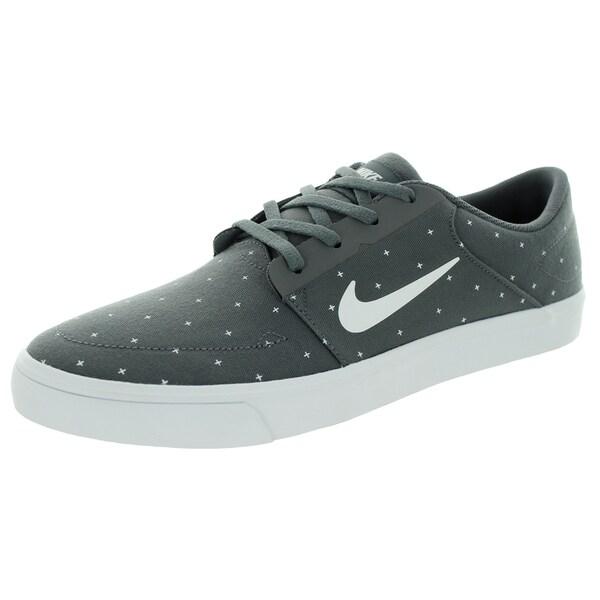 Nike Men's Sb Portmore Cnvs Premium Dark Grey/White/Pine Green/White Skate Shoe