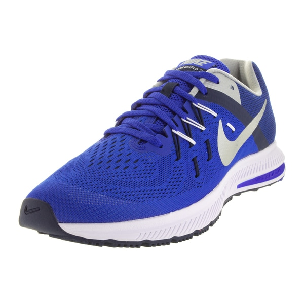 Nike Men's Zoom Winflo 2 /Metallic Silver/Mid Navy/Whit Running Shoe