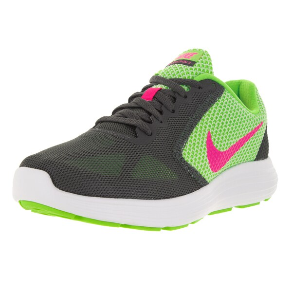 Nike Women's Revolution 3 G/Pink/Dark Grey/Whit Running Shoe