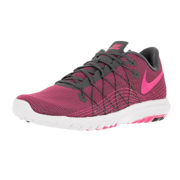 Nike Women's Flex Fury 2 Dark Grey/Pink Blast/White Running Shoe