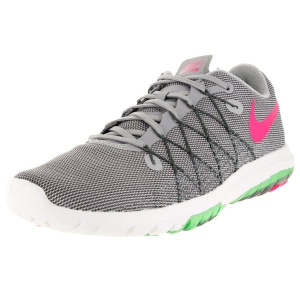 Nike Women's Flex Fury 2 Wolf Grey/Hyper Pink/ G/Drk Running Shoe