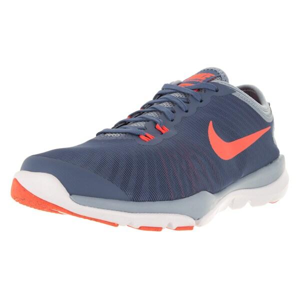Nike Women's Flex Supreme Tr 4 Ocean Fog/Brightt Mango/Bl /Prps Training Shoe