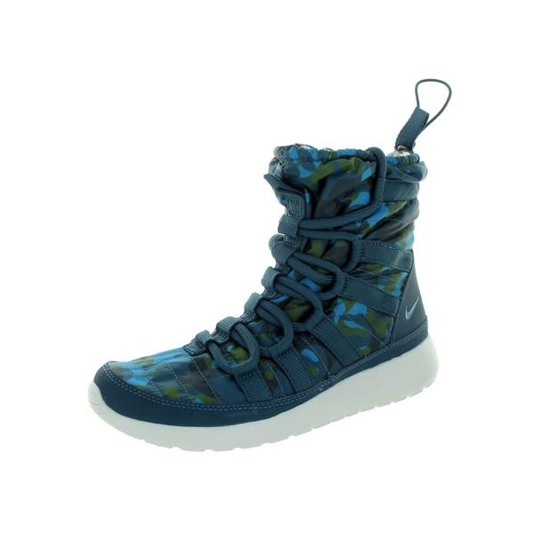 Nike Women's Roshe One Hi Pt Blue/Crbn G/Pr P Boot
