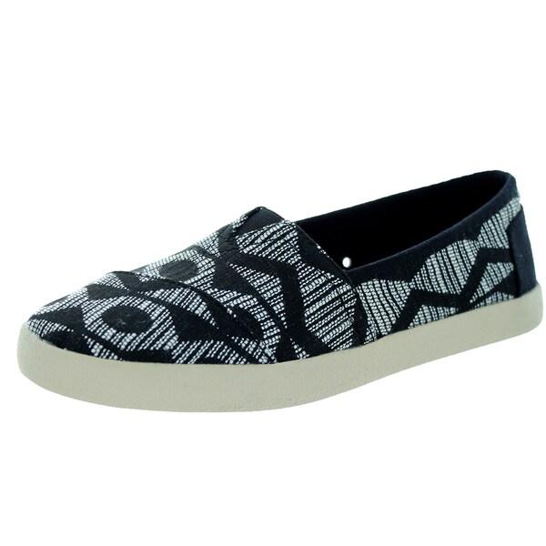 Toms Women's Avalon Sneaker Woven Black Tribal Casual Shoe