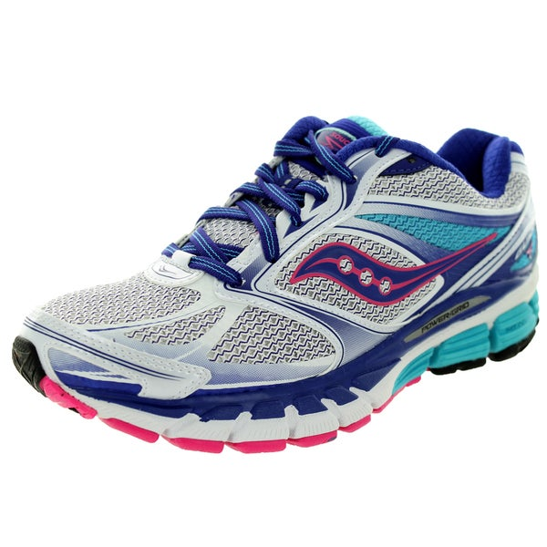 Saucony Women's Guide 8 Wide White/Pink Running Shoe