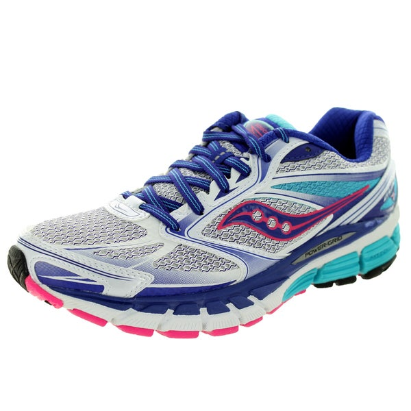 Saucony Women's Guide 8 Narrow White/Pink Running Shoe