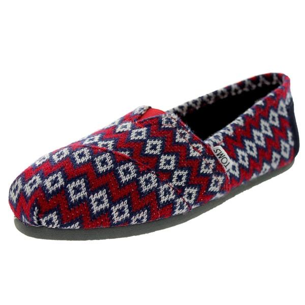 Toms Women's Classic Knit Navy Geo Casual Shoe