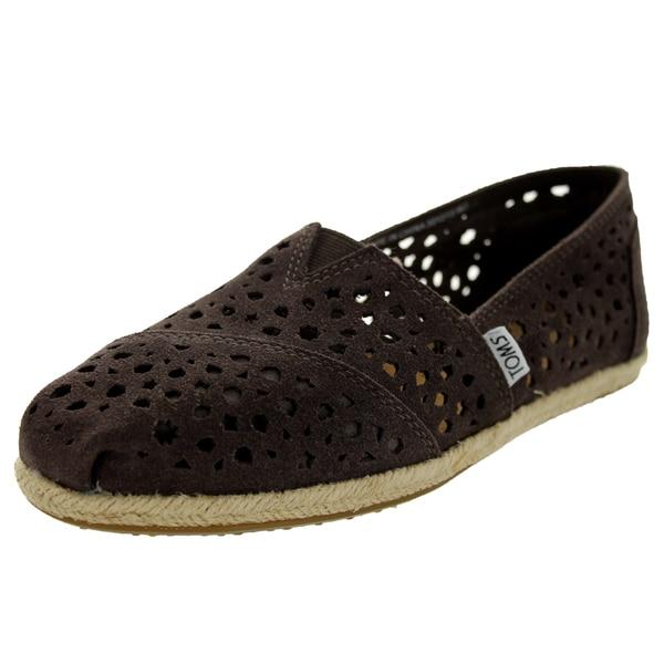 Toms Women's Classics Cutout Grey Moroccan Cutout Casual Shoe