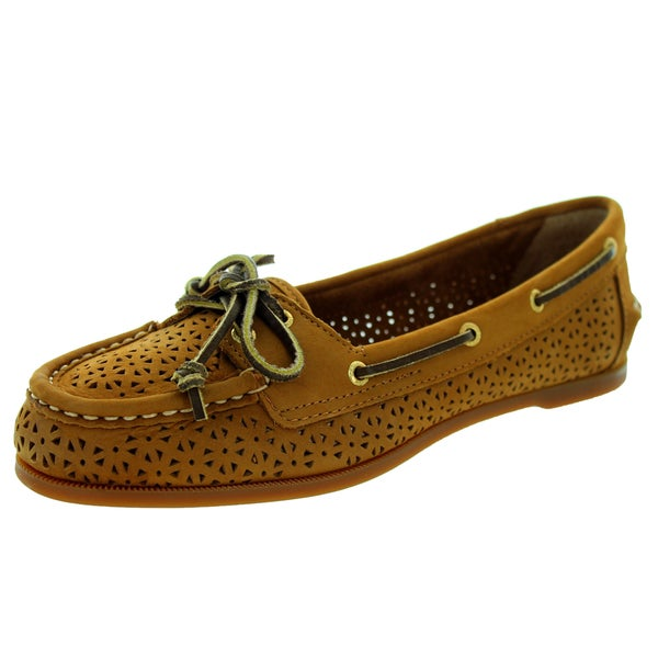 Sperry Top-Sider Women's Audrey Perfed Cognac Boat Shoe