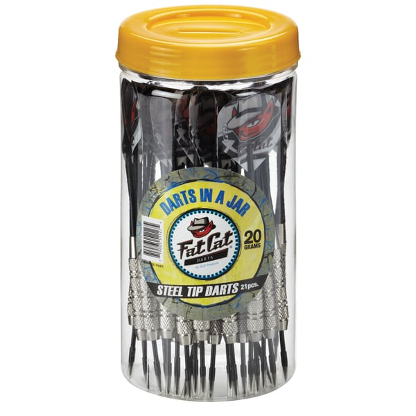 Fat Cat Steel-tipped 20-gram Darts in a Jar