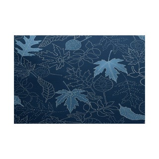 2 x 3-Feet, Dotted Leaves, Floral Print Indoor/Outdoor Rug