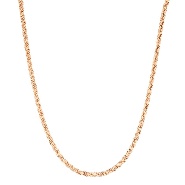 Gioelli 14k Rose Gold 18-inch Sparkle Popcorn Chain Necklace