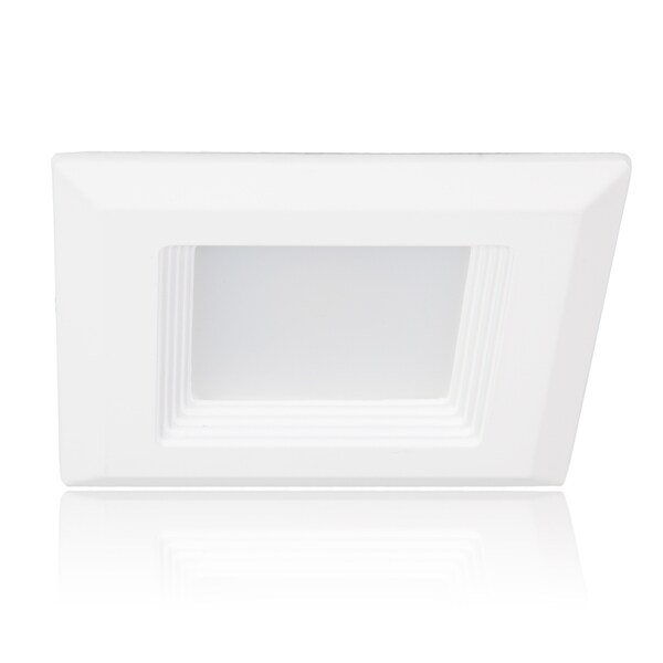 Maxxima 4-inch Square 3000K Warm White 600 Lumens LED Retrofit Downlight