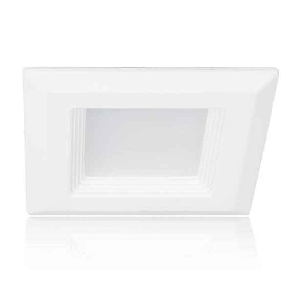 Maxxima White 4-inch LED Retrofit Square Downlight
