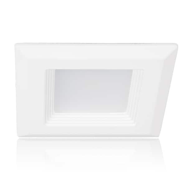 Maxxima White 4-inch LED Retrofit Square Downlight