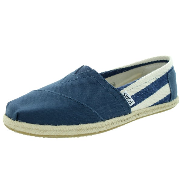 Toms Women's Classic Navy Stripe Casual Shoe