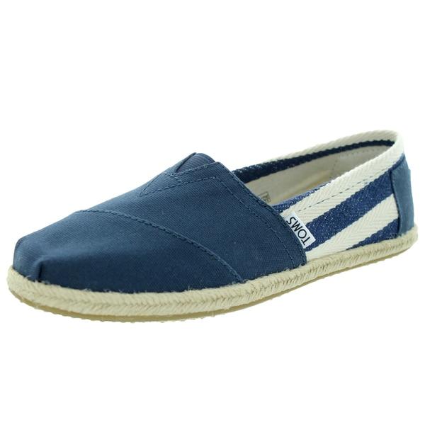 Toms Women's Classic Navy Stripe Casual Shoe