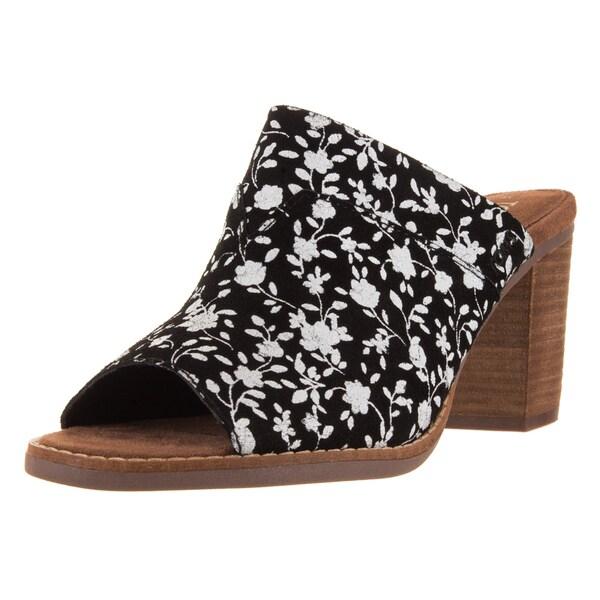 Toms Women's Majorca Mule Black White Casual Shoe