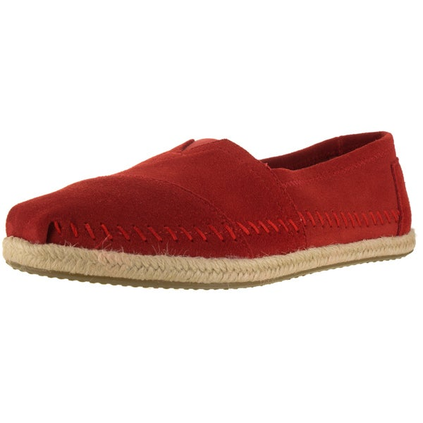 Toms Women's Classic Red Suede Casual Shoe