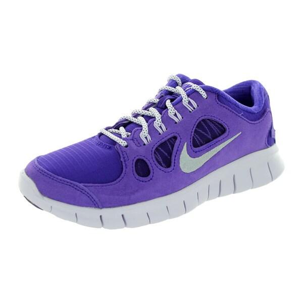 Nike Kids Free 5.0 Ltr (Gs) Electric Purple/Metallic Silver/Vlt Frst Running Shoe