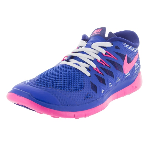 Nike Kids Free 5.0 (Gs) Cblt/Pink/Royal Blue/W Running Shoe