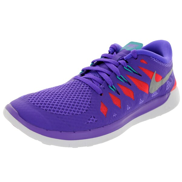 Nike Kids Free 5.0+ (Gs) Purple Vnm/Metallic Silver/Trb G/Lt Running Shoe