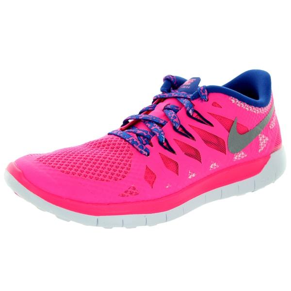 Nike Kid's Free 5.0 (Gs) Hyper Pink/Mlc Silver/Dp Running Shoe