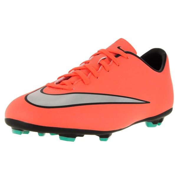 Nike Kids Jr Mercurial Victory V Fg Brightt Mango/Metallic Silver/ Trq Soccer Cleat