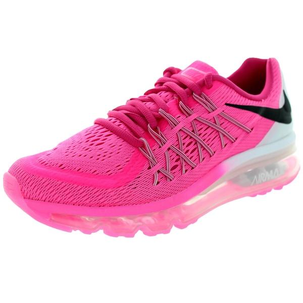 Nike Kids Air Max 2015 (Gs) Pink Pow/Black/Vivid Pink/White Running Shoe