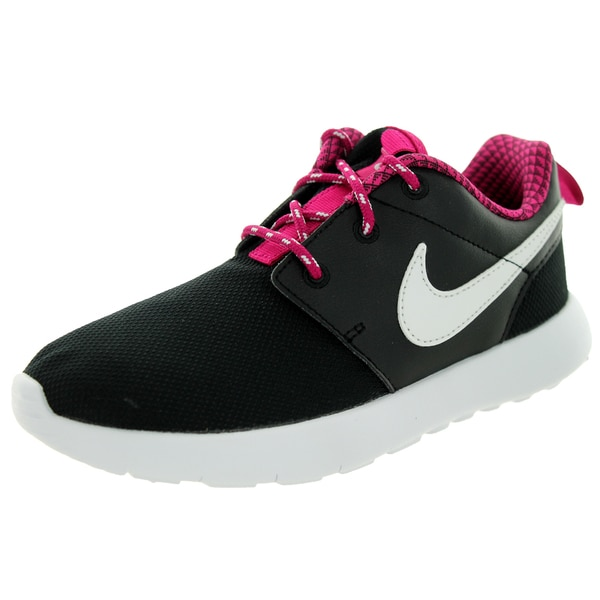 Nike Kid's Roshe One (Ps) Black/White/Sport Fuchsia Running Shoe