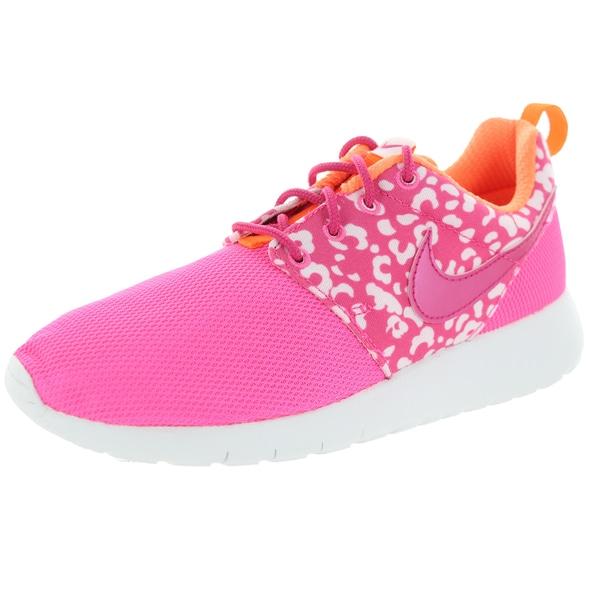 Nike Kids Roshe One Print (Gs) Pink Pow/Vvd Pink/Orange/White Running Shoe
