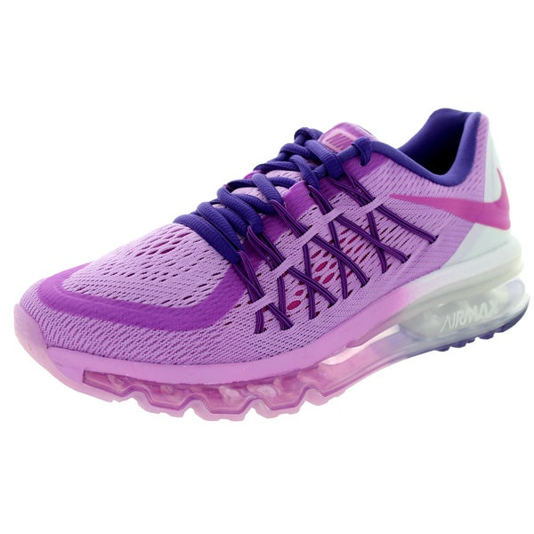 Nike Kids Air Max 2015 (Gs) Fuchsia Glow/Fuchsia Flash/White Running Shoe