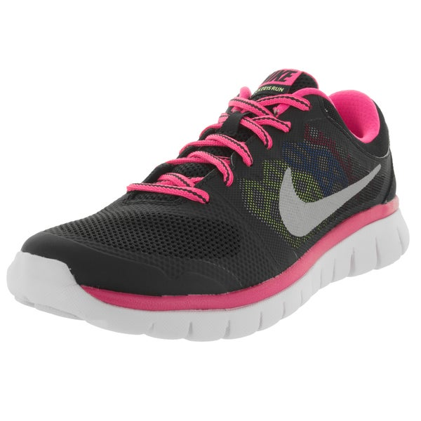 Nike Kids Flex 2015 (Gs) Black/Metallic Silver/Pink Pw/ Running Shoe 19859646