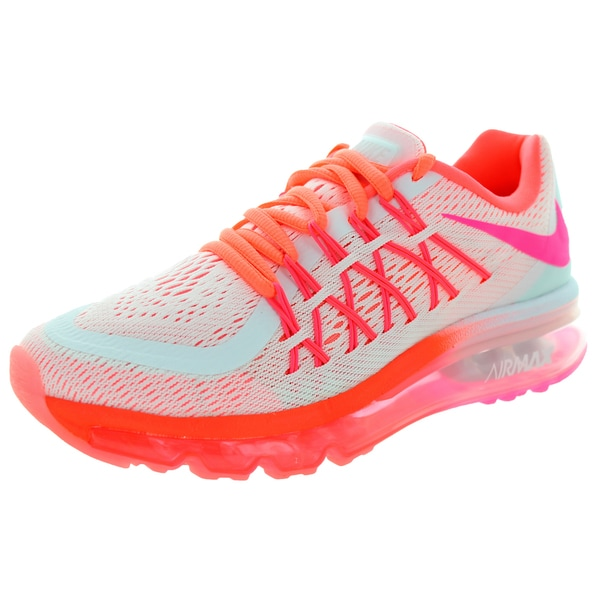 Nike Kids Air Max 2015 (Gs) White/Pink Pow/Hot Lava/Lv Glw Running Shoe