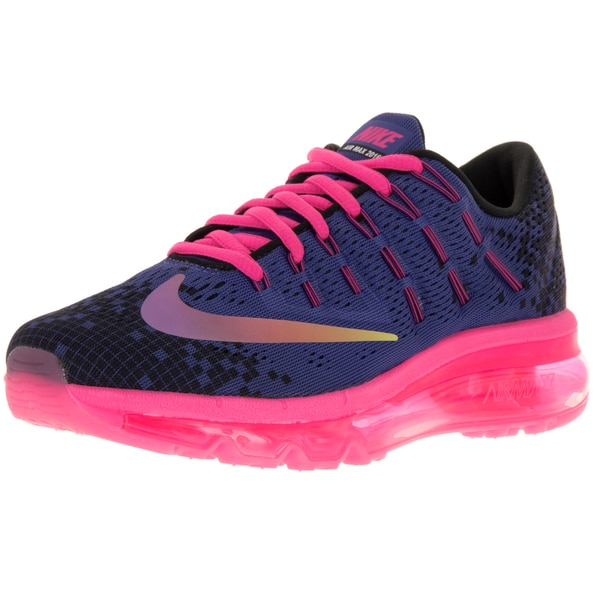 Nike Kids Air Max 2016 Print (Gs) Deep Night/Black/Pink Blast/Vlt Running Shoe