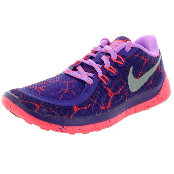 Nike Kids Free 5.0 Lava (Gs) Purple/Metallic Silver/H Running Shoe