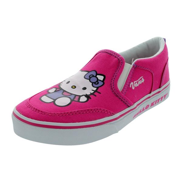 Vans Asher (Hello Kitty) Ms Skate Shoes Kid's Us (Magenta/White)