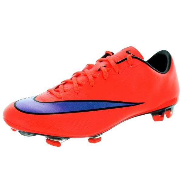 Nike Men's Mercurial Veloce Ii Fg Brightt Crimson/ Violet/Black Soccer Cleat