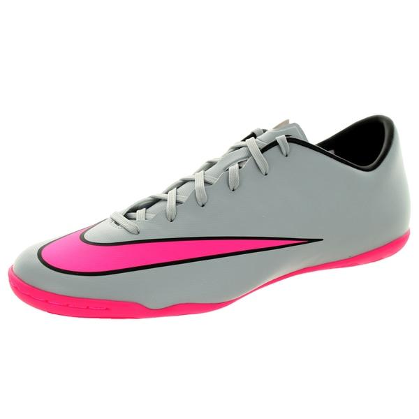 Nike Men's Mercurial Victory V Ic Wolf Grey/Hyper Pink/Black/Black Indoor Soccer Shoe 19860332