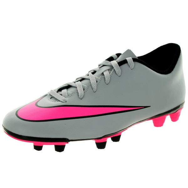 Nike Men's Mercurial Vortex Ii Fg Wolf Grey/Hyper Pink/Black/Black Soccer Cleat