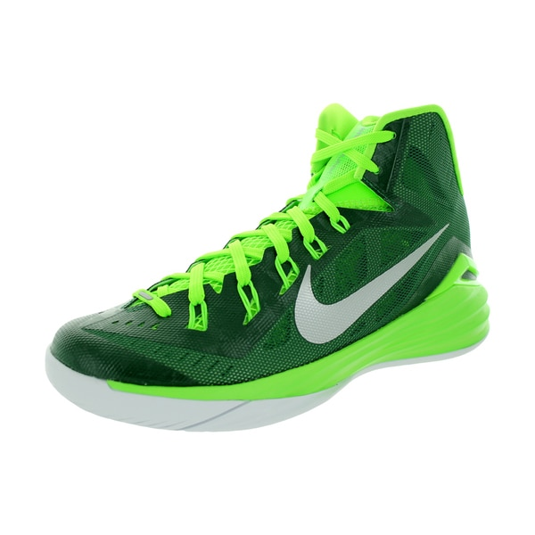 Nike Men's Hyperdunk 2014 Tb Grg Green/Metallic Silver/Elctrc G Basketball Shoe