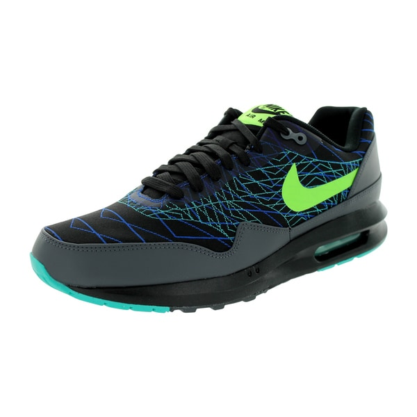 Nike Men's Air Max Lunar1 Jcrd Winter Black/Flash Lime/Hyper Cobalt Running Shoe