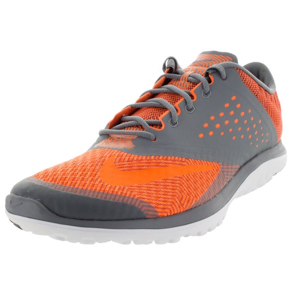 Nike Men's Fs Lite Run 2 Premium Cool Grey/Total Orange/White Running Shoe