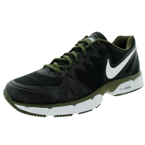 Nike Men's Dual Fusion Tr 6 Black/White/Cargo Khaki Running Shoe