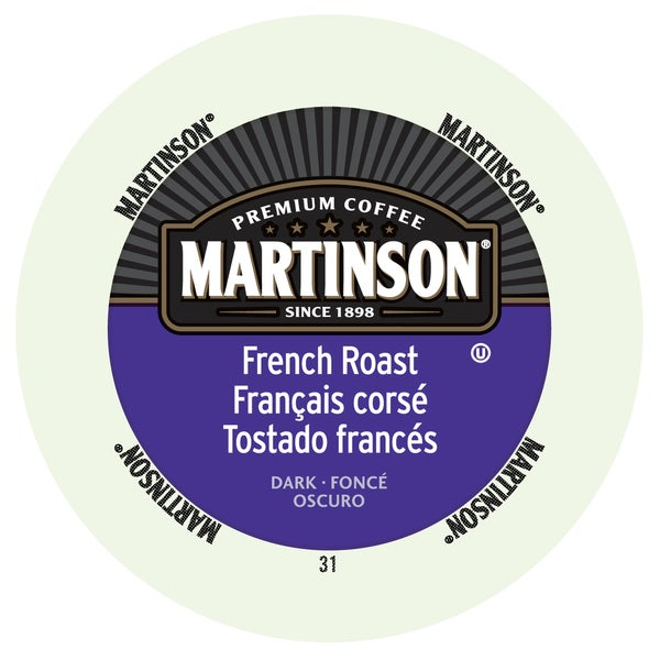 Martinson Coffee French Roast RealCup Portion Pack for Keurig Brewers 19862136