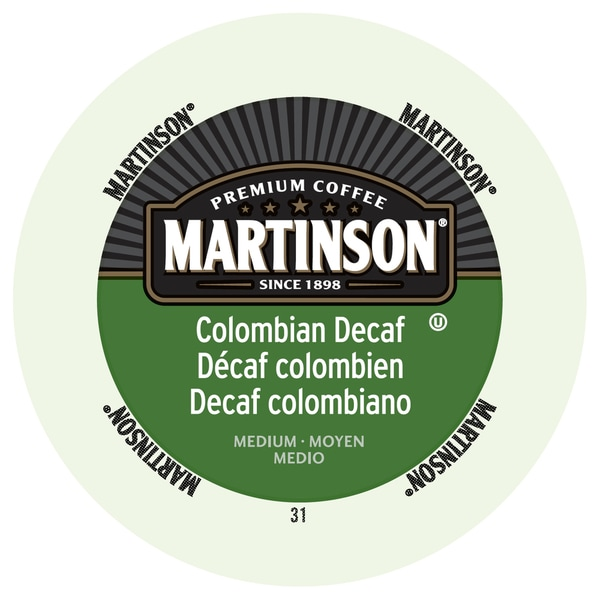 Martinson Coffee Colombian Decaf RealCup Portion Pack For Keurig Brewers 19862161