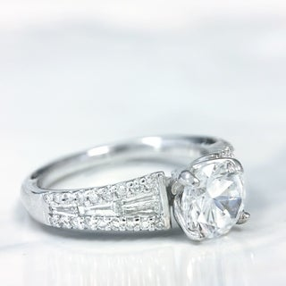 Lihara and Co. 18k White Gold 2/5ct TDW Diamond Semi-Mount Engagement Ring (G-H, VS1-VS2)
