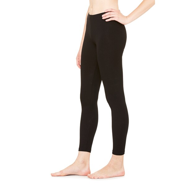 Cotton/Spandex Women's Legging Black